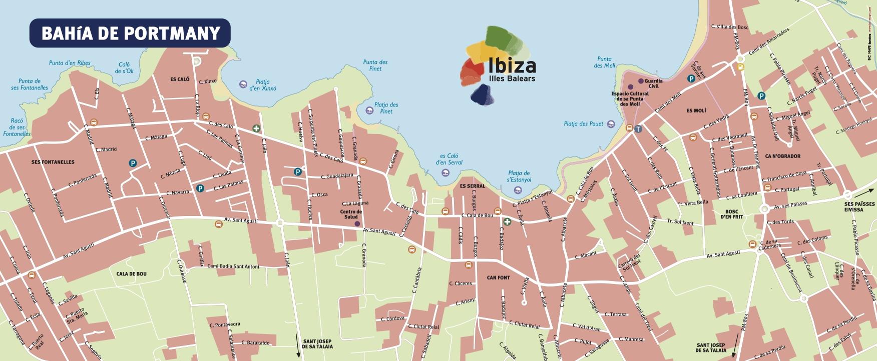 Карта Сан Антонио - Ибица, Испания